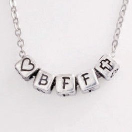 BFF (Block Pendant Necklace)