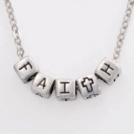 Faith (Block Pendant Necklace)