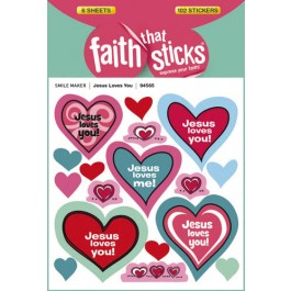 Jesus Loves You :   Stickers - Set of 6 sheets, 9781414394565
