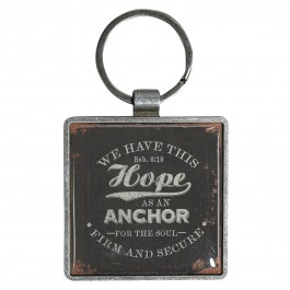 We have this Hope as an Anchor - Metal keyring