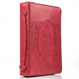 Faith - Pink (Biblecover - Large) Fits Bibles up to 168 x 241 x 50 mm