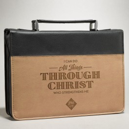 I can do all thing - Brown (Biblecover - Medium) Fits Bibles up to 156 x 224 x 40 mm