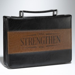 I will strengthen you - Brown (Biblecover - Large) Fits Bibles up to 168 x 241 x 50 mm