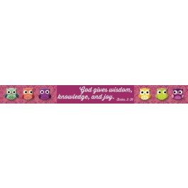 God gives wisdom, knowledge and joy (Magnetic strip) 190 x 19 mm