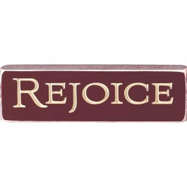 Rejoice - Engraved Wall/Tabletop Sign - 15 x 4,5 cm