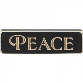 Peace - Engraved Wall/Tabletop Sign - 15 x 4,5 cm