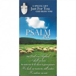 Psalm 23 - Lapel pin with pocket card