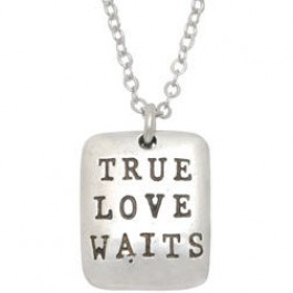 True Love Waits Tag - Necklace 45 cm