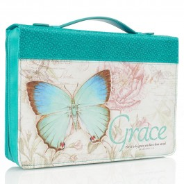 Grace Butterfly - Teal - Biblecover Large For bibles upto 168 x 241 x 50 mm :  , 6006937131682
