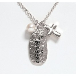 I am blessed (Silvertone charm necklace)  :  , 759830230599