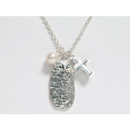 Each day is a gift from God (Silvertone charm necklace)  :  , 759830230612