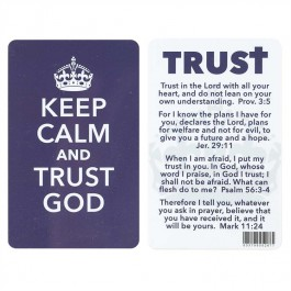 Keep calm and trust God - Pocket card PVC  :  , 603799552677