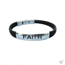 Silicone bracelet faith