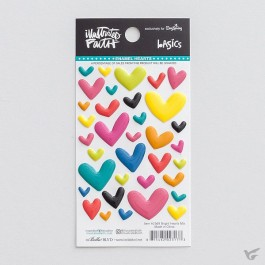 Mixed colors - Cardstock stickers hearts