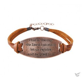 Leather bracelet this is the day