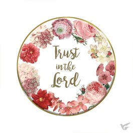 Tabletop plaque trust in the Lord