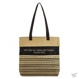 Tote bag with God all things