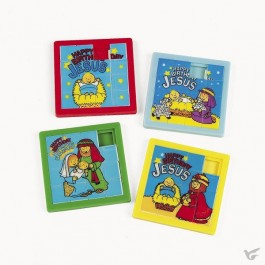 Slide puzzles happy birthday Jesus set12