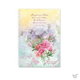 Softcover journal flower graphic