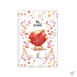 Softcover journal teddy heart