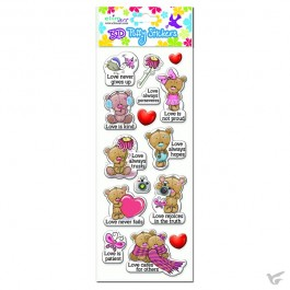 Puffy stickers love bears set3