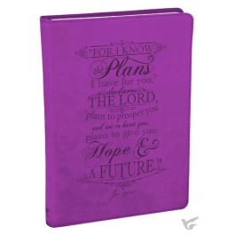 For I know the plans, LuxLeather Journal 14,5 x 21 cm