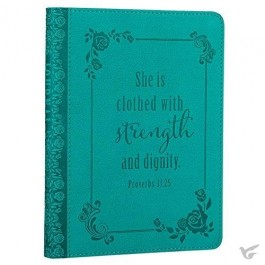 She is clothed with strength - LuxLeather Journal 12,5 x 17,5 cm