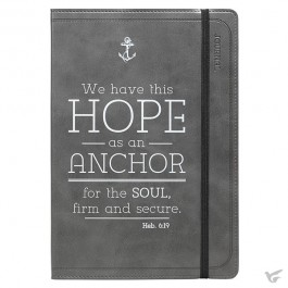 We have this Hope as an Anchor - Dark Grey - Flexcover Journal Hebrews 6:19