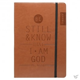 Be still and know - Brown - Flexcover Journal Psalm 46:10