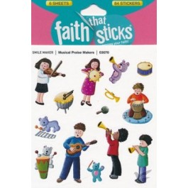 Musical praise maker :   Stickers - Set of 6 sheets, 9781496403070