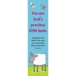 You are God's precious little lamb :   Bookmarks - Teacher - Pack of 10, 6006937101364