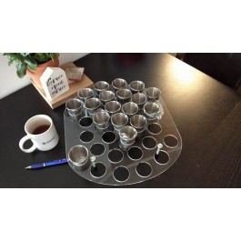 Communion-tray 32 cups (grote RVS cups)