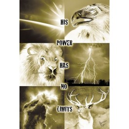 Poster a4 His power has no limits