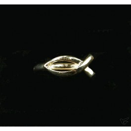Ring goud dun vis 19mm 1.9gr