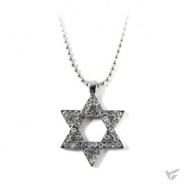 Necklace star of David crystal