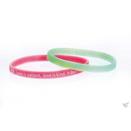 Armband love is patient rubber