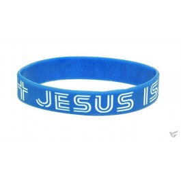 Armband Jesus is alive blauw silicone