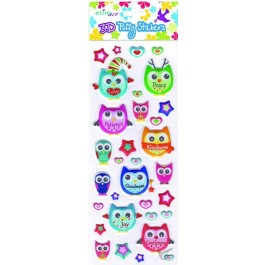 Puffy stickers owl series set3
