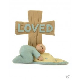 Loved baby boy with cross