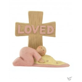 Loved baby girl with cross
