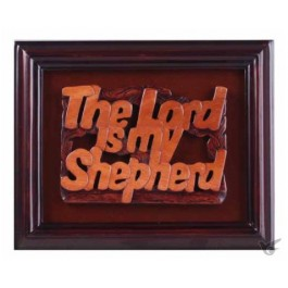 Lijst 18x22cm hout the Lord is my shephe
