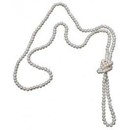 Extra Lang Collier - Wit :   , DFL1011