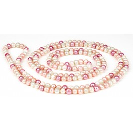 Extra Lang Collier - Roze :   , DFL1012
