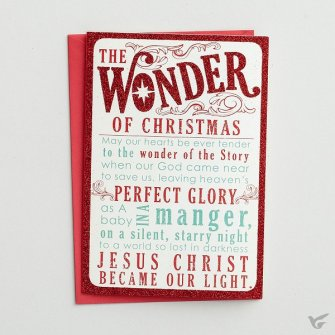 The wonder of Christmas - 18 cards : Christmas boxed cards, 081983599538