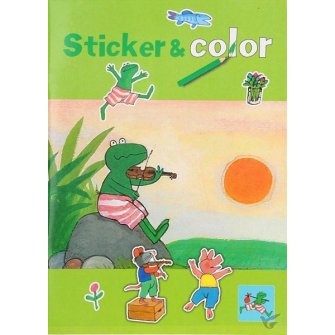 Kikker sticker & color zon kleurboek