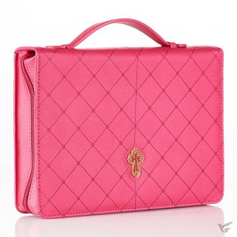 Cross - Pink - Large - LuxLeather