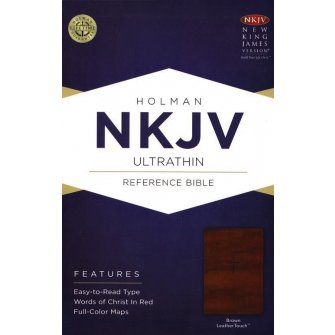 NKJV UltraThin Reference Bible Brown - LeatherTouch