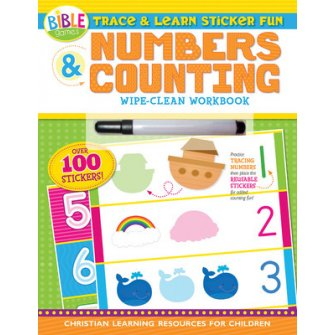 Numbers and Counting: Trace and Learn Sticker Fun