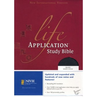 Life Application Study Bible - Index Black - Bonded Leather