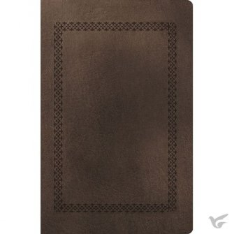 Personal Size Giant Print Reference Bible Brown - Leathersoft